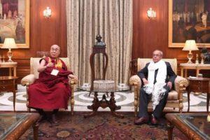 印度总统普拉纳布·慕克吉会晤达赖喇嘛尊者