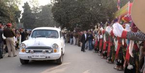 为举行时轮金刚灌顶大法会,达赖喇嘛尊者已抵达菩提迦耶