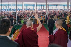 时轮金刚灌顶法会圆满结束,达赖喇嘛尊者强调修持菩提心的重要性
