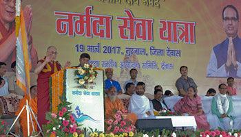 达赖喇嘛尊者呼吁人们保护水资源