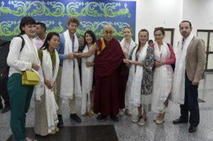 来访达兰萨拉的欧洲议会代表团与达赖喇嘛尊者会晤