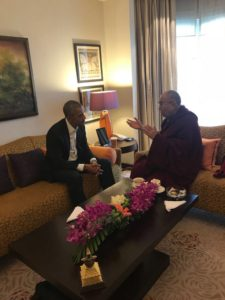 达赖喇嘛尊者与美国前总统奥巴马在新德里会晤
