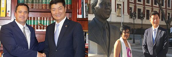 藏人行政中央司政洛桑森格在开普敦与南非议员会晤