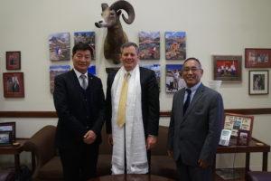 藏人行政中央司政洛桑森格访问美国首都华盛顿