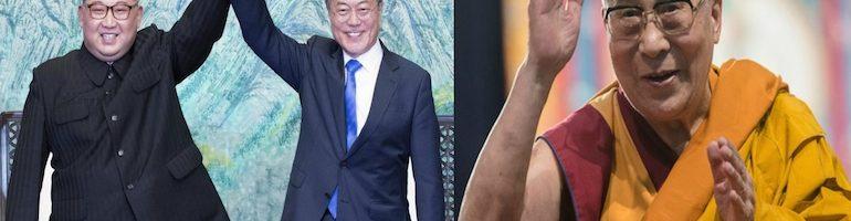 达赖喇嘛尊者致函祝贺朝鲜和韩国领导人成功举行会谈