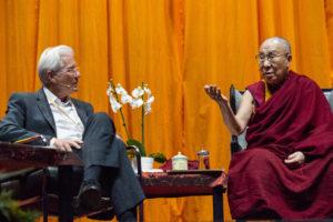 达赖喇嘛与理查德·基尔进行对话,尊者赞扬国际声援西藏运动30年的工作